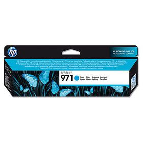 HP # 971 Cyan Officejet Ink Cartridge - Standard Capacity