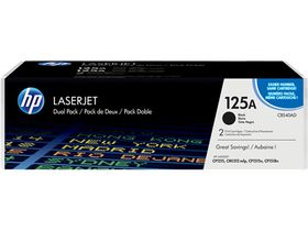 HP No. 125A Color LaserJet Black Toner - Dual Pack