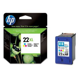 HP # 22XL Tri Colour Ink Cartridge Blister Pack