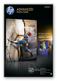 HP Advanced Glossy 250gsm Photo Paper - 10x15cm Borderless (60 Sheets)