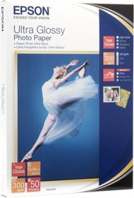 Epson Ultra Glossy 300gsm Photo Paper - 13x18cm (50 Sheets)