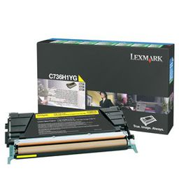 LEXMARK C736 / X736 / X738 Yellow High Yield Return Programme Toner Cartridge - 10 000 pgs