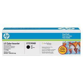 HP 304A Color LaserJet Black Cartridge - Dual Pack