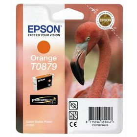 EPSON - Ink - T0879 - Orange - FLAMINGO - Retail Pack - Stylus Photo R1900