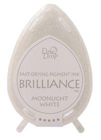 Tsukineko Brilliance Dew Drop Ink Pad - Moonlight White