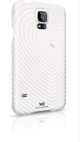 Samsung Galaxy S5 White Diamond Heartbeat Cover - White