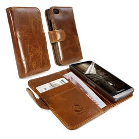 Tuff-Luv Vintage Wallet Style Case or Cover for Blackberry Z30 - Brown