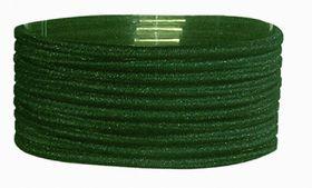 Chic Thin Hair Elastics Band 10 Pack - Bottle Green