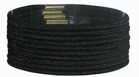 Chic Thin Hair Elastics Band 10 Pack - Black