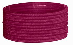 Chic Thin Hair Elastics Band 10 Pack - Maroon