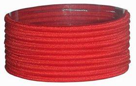 Chic Thin Hair Elastics Band 10 Pack - Red