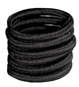 Chic Non-Join Hair Elastic Bands 6 Pack - Black