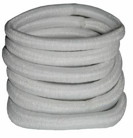 Chic Non-Join Hair Elastic Bands 6 Pack - White