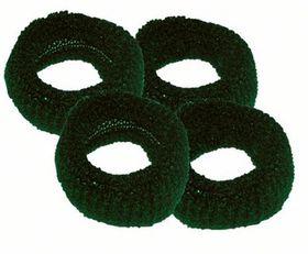 Chic Harmfree Hairing Band 4 Pack - Bottle Green