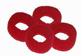 Chic Harmfree Hairing Band 4 Pack - Red
