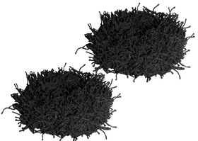 Chic Fuzzy Schrunchie 2 Pack - Black