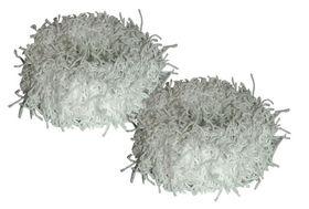 Chic Fuzzy Schrunchie 2 Pack - White