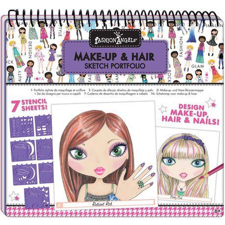 Fashion Angels Make Up And Hair Design Sketch Portfolio Buy Online