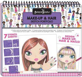 Fashion Angels Make-Up And Hair Design Sketch Portfolio