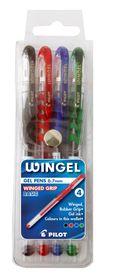 Pilot Wingel 0.7mm Gel Pens - Wallet of 4 Basic Colours