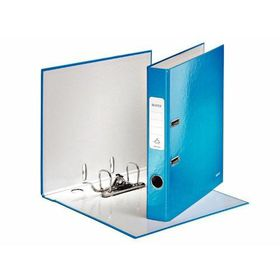 Leitz WOW A4 Lever Arch File 50mm 180 Degree - Blue