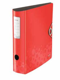 Leitz Bebop A4 Lever Arch Active File 80mm 180 Degree - Red
