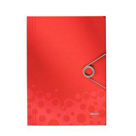 Leitz Bebop 3 Flap Folder A4 - Red