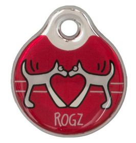 Rogz - ID Tagz 27mm Instant Resin Tag - Red Heart