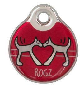 Rogz - ID Tagz Large Self-Customisable Instant Resin Tag - Red