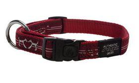 Rogz - Fancy Dress 11mm Dog Collar - Red Heart