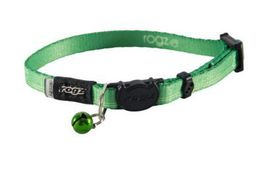 Rogz - KiddyCat 11mm Breakaway Collar - Lime Paws