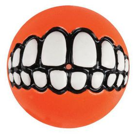 Rogz - Grinz Small Dog Treat Ball - Orange