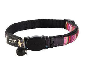 Rogz - NeoCat 11mm Breakaway Collar - Black Stripes
