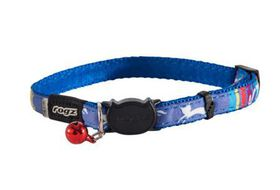 Rogz - NeoCat 11mm Breakaway Collar - Blue Stripes
