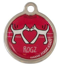 Rogz - ID Tagz 31mm Metal Tag - Red Heart