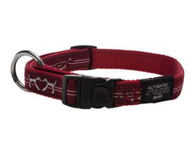 Rogz - Fancy Dress 25mm Dog Collar - Red Heart