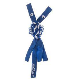 Rogz - Cowboyz Medium Dog Knot Chew Toy - Blue
