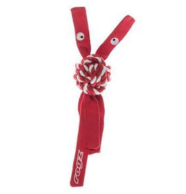Rogz - Cowboyz Dog Knot Chew Toy 64mm x 310mm - Red