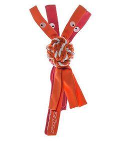 Rogz - Cowboyz Dog Knot Chew Toy 64mm x 310mm - Orange