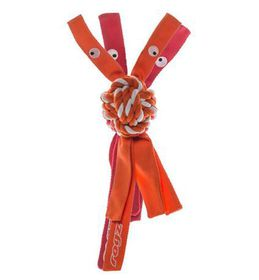 Rogz - Cowboyz Dog Knot Chew Toy 78mm x 400mm - Orange