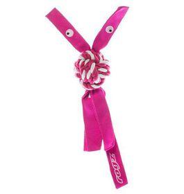 Rogz - Cowboyz Dog Knot Chew Toy 78mm x 400mm - Pink