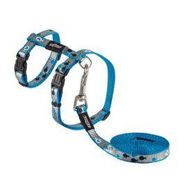 Rogz - oCat 8mm Cat Lead/H-Harness - Blue Fish