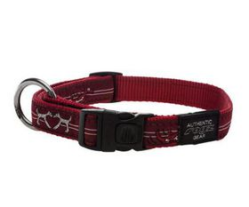 Rogz - Fancy Dress 40mm Dog Collar - Red Heart