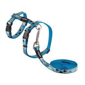 Rogz - oCat 11mm Cat Lead/H-Harness - Blue Fish