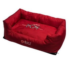 Rogz - 56cm x 35cm x 22cm Dog Bed - Red Heart on Red