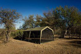 Bushtec - Rhino Gazebo Full Mesh-Diner with Built-in-Floor - Black