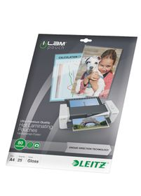 Leitz iLAM UDT Glossy A4 80micron Laminating Pouches (25 Pack)