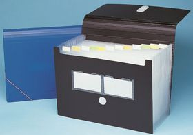 Bantex Expanding File 13 Partitions - Black