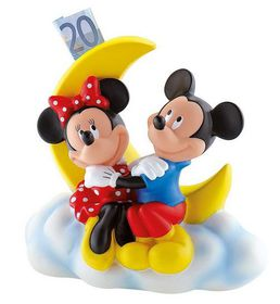 Bullyland Mickey Mouse Club House Mickey & Minnie Money Bank - 18.5cm