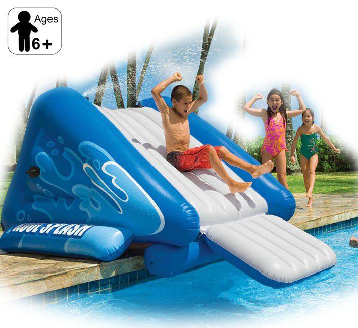 Inflatable Slide Pool Tesco: Intex - Pool Side Water Slide
